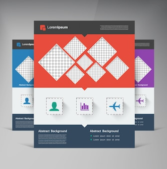Brochure brochure vectorielle