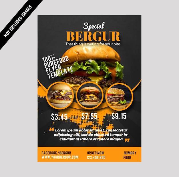 Brochure burger