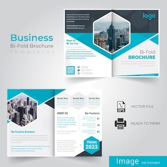 Brochure business pli