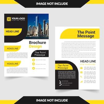 Brochure business avec tableau de messages ponctuels