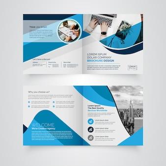 Brochure carrée bi-fold