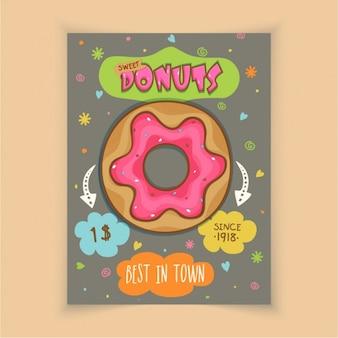Brochure colorée avec le délicieux beignet
