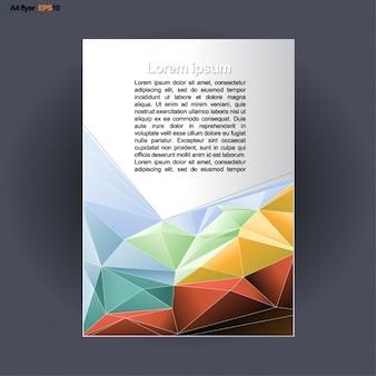 Brochure colorée avec des formes polygonales