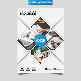Brochure commerciale abstraite