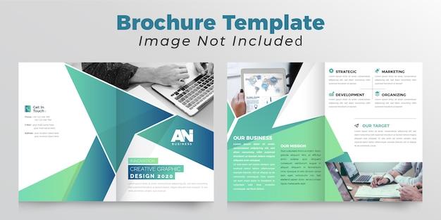Brochure commerciale bifold abstraite