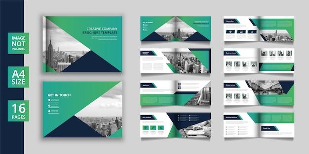 Brochure commerciale ou catalogue de pages paysage