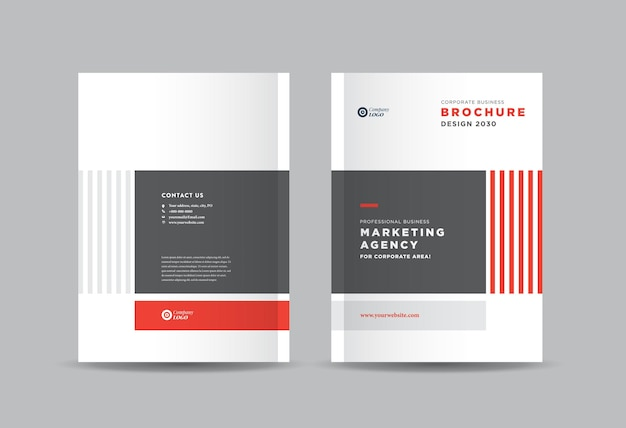 Brochure commerciale et conception de couverture de livret ou conception de couverture de rapport annuel et de catalogue d'entreprise