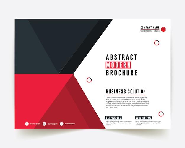 Brochure commerciale de couleur rouge et bleue de style entreprise rapport annuel