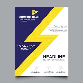 Brochure commerciale design moderne