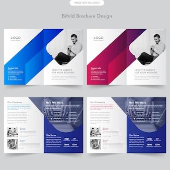 Brochure commerciale à deux volets