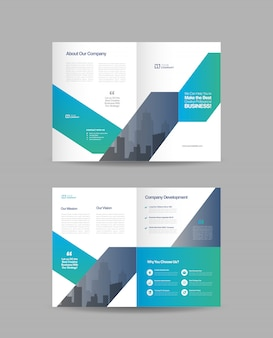 Brochure commerciale double