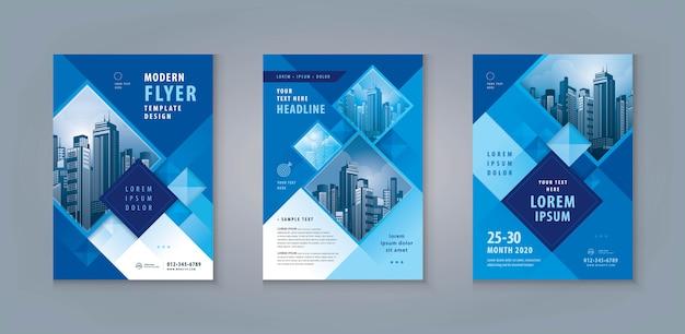Brochure commerciale ou ensemble de conception de modèle de flyer. modèle de flyer d'entreprise format a4