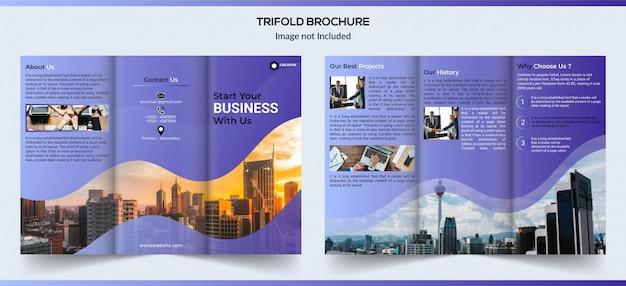 Brochure commerciale à trois volets design