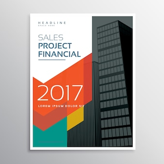 Brochure de conception de pages de couverture d'affiches d'entreprise avec une forme géométrique colorée