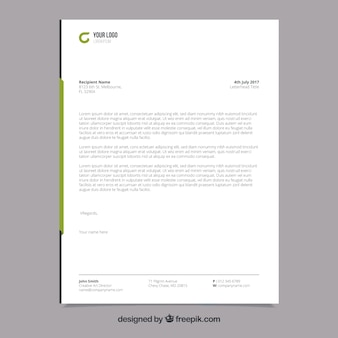 Brochure corporative à formes vertes