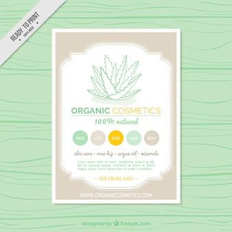 Brochure des cosmétiques bio dans des tons doux