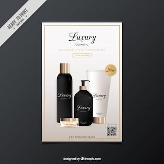 Brochure des cosmétiques de luxe réalistes