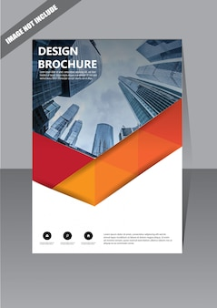 Brochure de couverture de couverture rouge pour le rapport annuel de mise en page