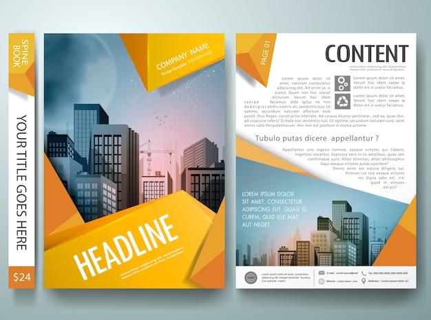 Brochure cover portfolio template vecteur
