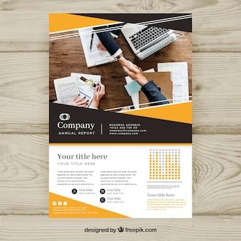 Brochure d'affaires avec style abstrait