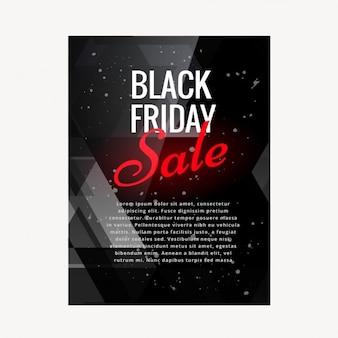 Brochure dark of black friday