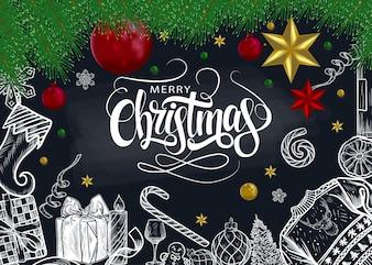 Brochure de Noël de vecteur