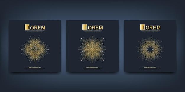 Brochure, dépliant, dépliant, publicité, couverture, magazine, présentation du rapport annuel