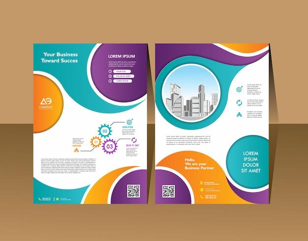 Brochure design couverture mise en page moderne rapport annuel affiche flyer en a4