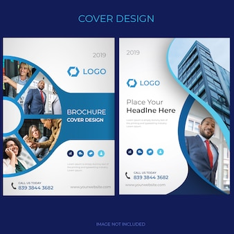 Brochure design de la couverture