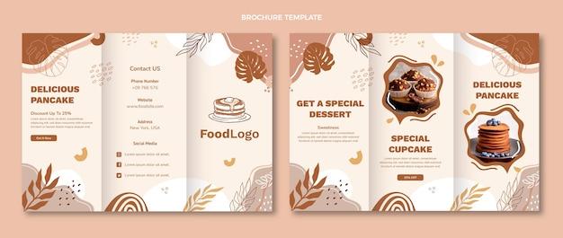 Brochure de desserts spéciaux design plat