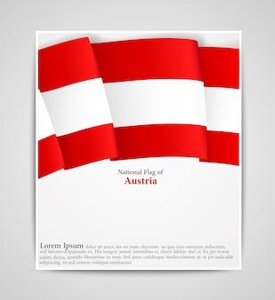 Brochure du drapeau national de l'autriche