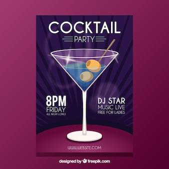 Brochure élégante pour les cocktails