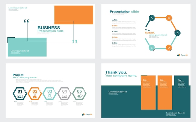 Brochure d'entreprise abstraite définie illustration stock modèle diaporama présentation