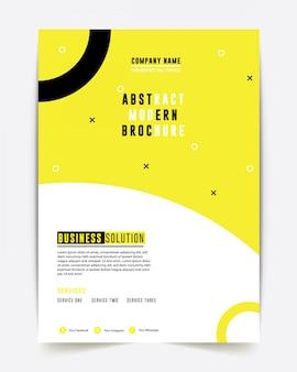 Brochure d'entreprise conception du rapport annuel