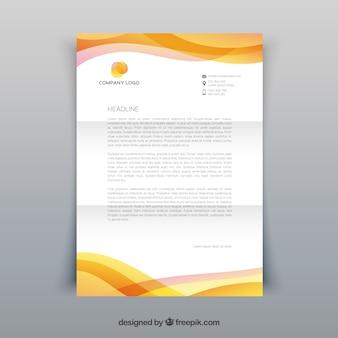 Brochure d'entreprise, couleur jaune