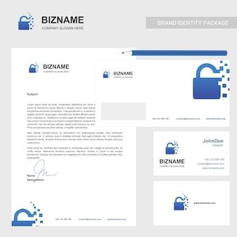 Brochure de l'entreprise avec un design élégant et aussi avec le logo de la serrure