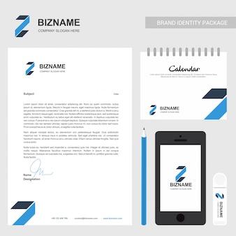Brochure d'entreprise et design stationnaire