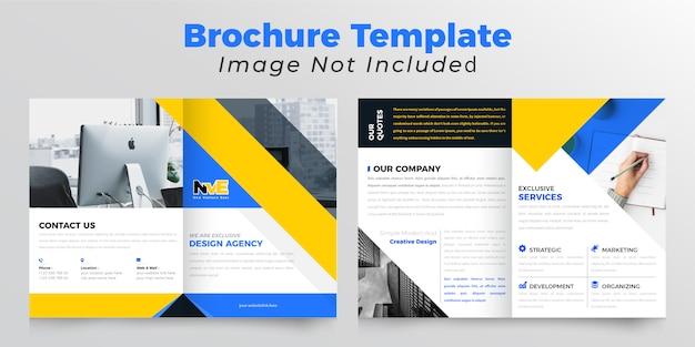 Brochure d'entreprise à deux volets