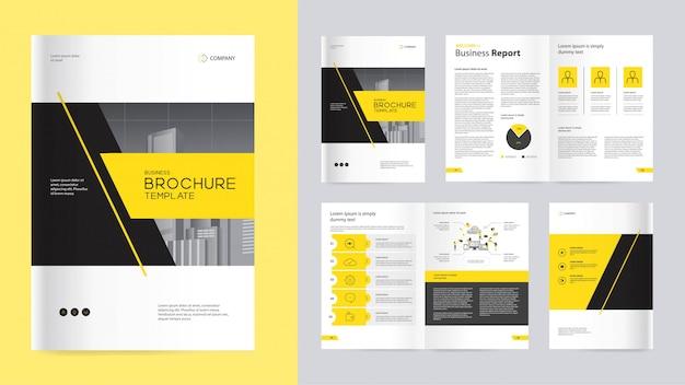 Brochure d'entreprise jaune et noir