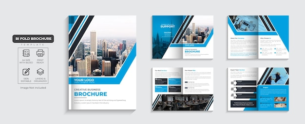 Brochure d'entreprise profil d'entreprise de 8 pages et vecteur premium de conception de brochure d'entreprise de plusieurs pages