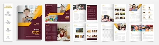 Brochure d'entreprise rouge et blanche