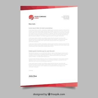 Brochure d'entreprise, style géométrique avec formes rouges