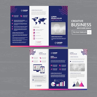 Brochure entreprise tri fold dépliant flyer design