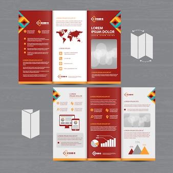 Brochure entreprise tri fold leaflet flyer