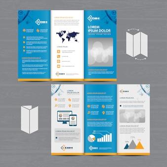 Brochure entreprise tri fold
