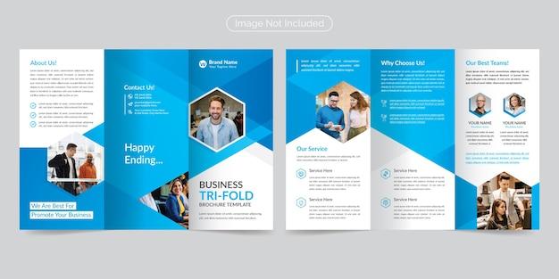 Brochure d'entreprise à trois volets moderne et professionnelle