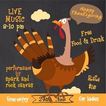 Brochure fantastique avec de la dinde pour thanksgiving