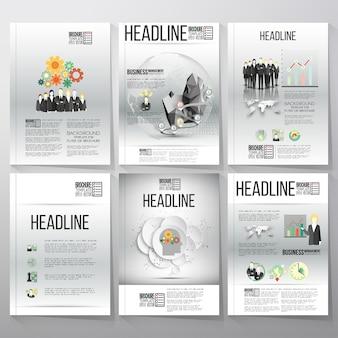 Brochure ou flyer infographie modèles pour la conception de l'entreprise.