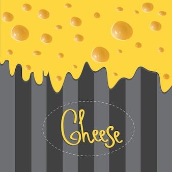 Brochure de fromage de vecteur sur fond sombre fait de rayures