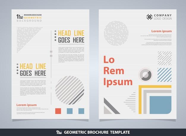 Brochure géométrique colorée abstraite avec texte